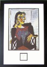 Pablo Picasso Autograph Signed Display